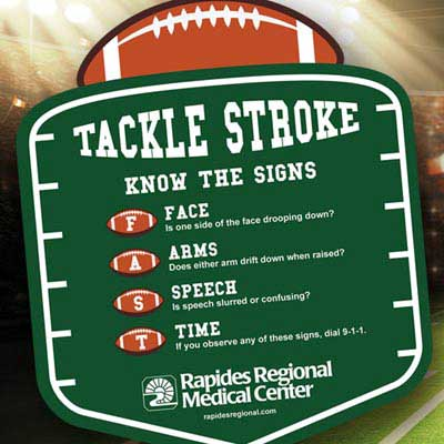 Join Rapides Regional on Aug. 28 in Tackling Stroke